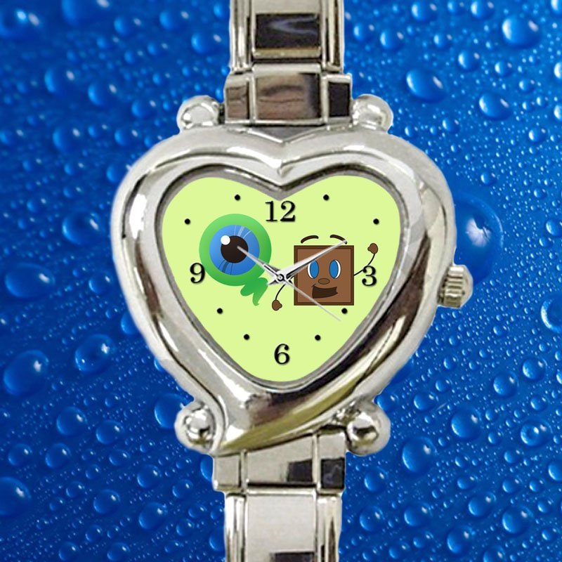 cute Tiny Box Tim And Septiceye Sam! hearts logo heart charm watches stainless steel