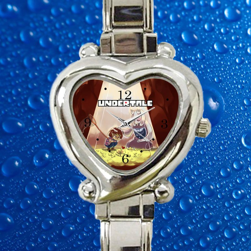 cute undertale game hearts logo heart charm watches stainless steel