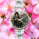 cute walking dead season zombie daryl dixon round charm watches stainless steel