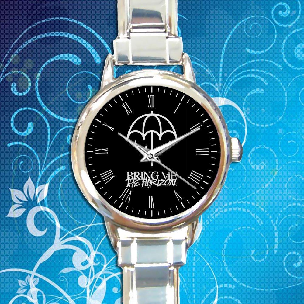 cute Bring Me the Horizon Umbrella logo round charm watches stainless steel
