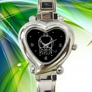 cute Owsla Record Label after dark hearts logo heart charm watches stainless steel
