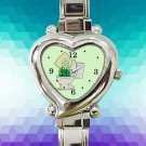 cute Steven Universe Peridot In The Toilet hearts logo heart charm watches stainless steel