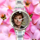 cute evan peters signature round charm watches stainless steel