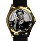 cool matt healy the 1975 leather gold Wristwatches