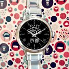 cute Sad Boys Yung Lean round charm watches stainless steel