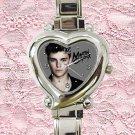 cute Martin Garrix heart charm watches stainless steel
