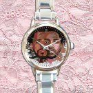 cute Kendrick Lamar & J Cole round charm watches stainless steel