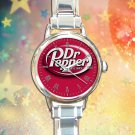 cute DR PEPPER Red Can round charm watches stainless steel