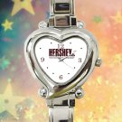 cute Hershey's Chocolate heart charm watches stainless steel