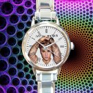 cute justin bieber tattoo round charm watches stainless steel