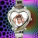 cute justin bieber tattoo heart charm watches stainless steel