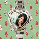 cute selena gomez tour album heart charm watches stainless steel