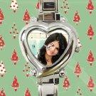 cute selena gomez tour album heart charm watches stainless steel