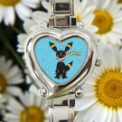 cute pokemon umbreon heart charm watches stainless steel