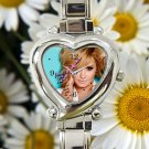 cute Demi Lovato tattoo inspired heart charm watches stainless steel