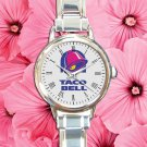 cute tacobell taco bell round charm watches stainless steel