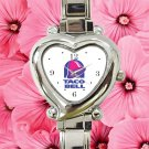cute tacobell taco bell heart charm watches stainless steel