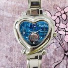 cute haunted mansion helloween heart charm watches stainless steel