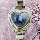 cute star trek communicator logo heart charm watches stainless steel