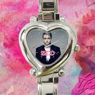 cute zedd album tour heart charm watches stainless steel