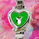 cute Foghorn Leghorn chicken hawk heart charm watches stainless steel