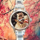 cute queen freddy mecury band round charm watches stainless steel
