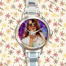 cute lana del rey galaxy nebula round charm watches stainless steel