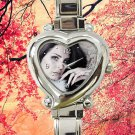 cute lana del rey album tour heart charm watches stainless steel