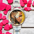 cute Jason Derulo tattoos art round charm watches stainless steel