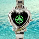 cute zija logo heart charm watches stainless steel