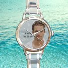 cute Paul walker RIP round charm watches stainless steel