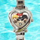 cute chibi attack on titans shield heart charm watches stainless steel