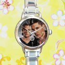 cute supernatural sam dean  JENSEN ACKLES round charm watches stainless steel