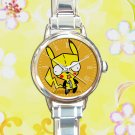 cute pokemon pikachu gir invader zim round charm watches stainless steel