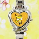 cute pokemon pikachu gir invader zim heart charm watches stainless steel