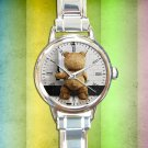 cute Funny Ted Stoner Bear Movie round charm watches stainless steel