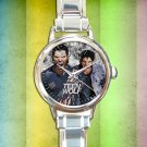 cute teen wolf season Tyler Posey round charm watches stainless steel