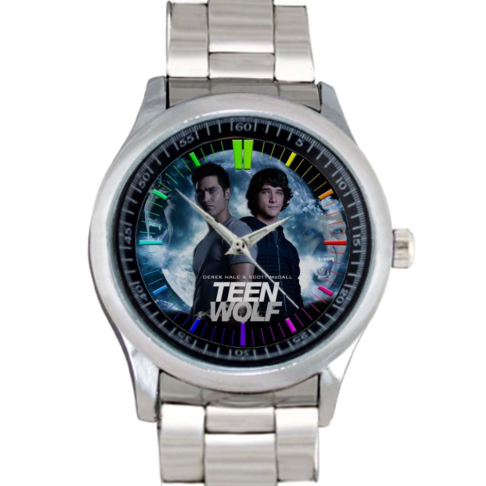 cool teen wolf season Tyler Posey Stainless Steel Wristwatches