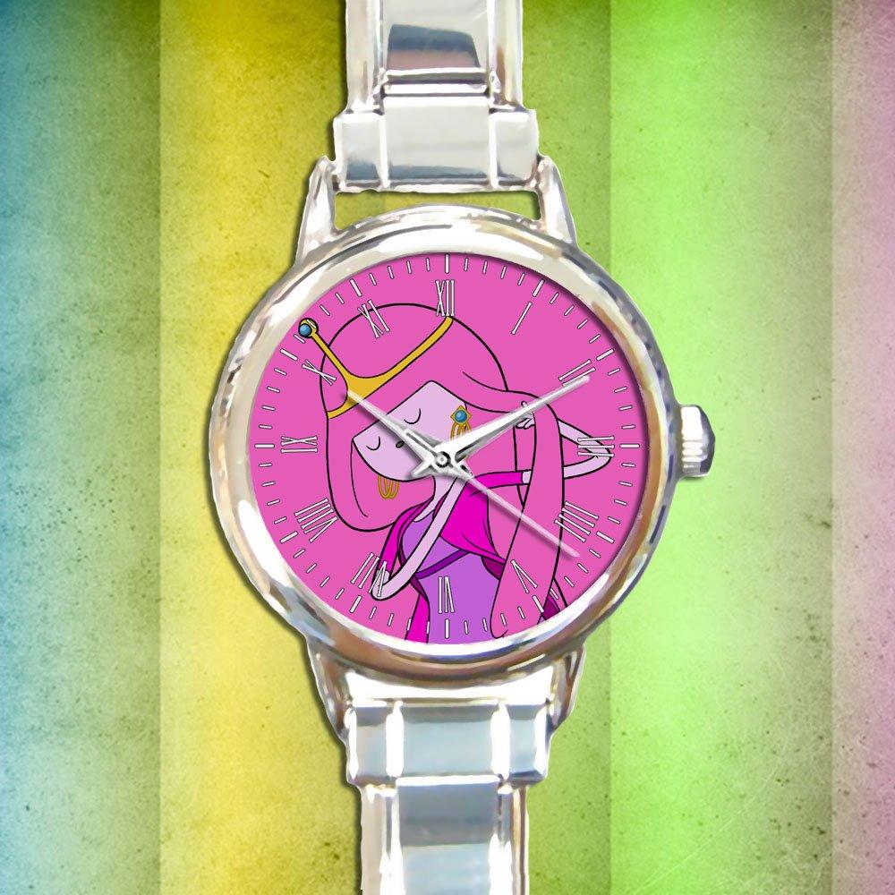 cute adventure time princess bubblegum round charm watches stainless steel