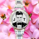 cute justin timberlake mirrors 20 I 20 round charm watches stainless steel