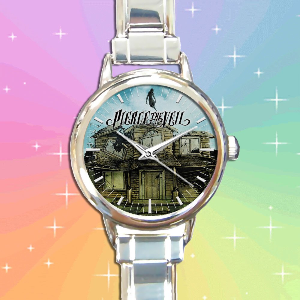 cute pierce the veil Vic mike Fuentes round charm watches stainless steel