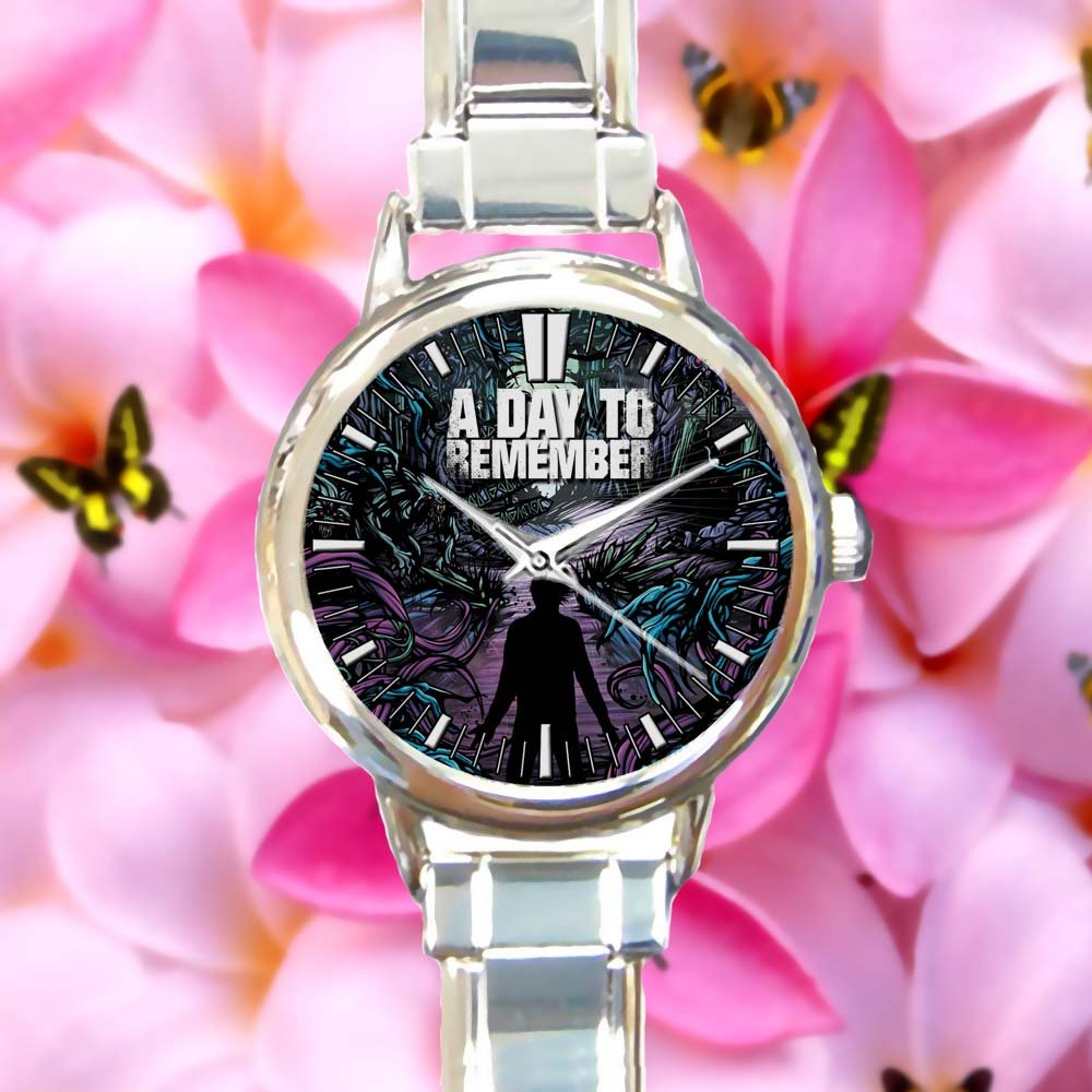cute A DAY TO REMEMBER Rock Common Courtesy Band round charm watches stainless steel