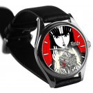 cool Emily the Strange TAILLENband leather silver Wristwatches