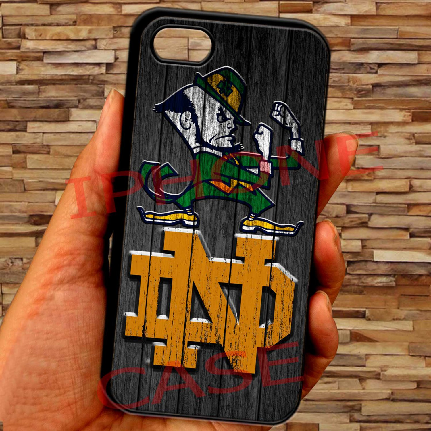 """notre dame fighting irish fit for iphone 6 plus 5.5"""" black case cover"""