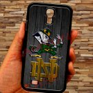 notre dame fighting irish fit for samsung galaxy S4 S 4 S IV black case cover