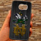 notre dame fighting irish fit for samsung galaxy S6 S 6 S VI edge black case cover