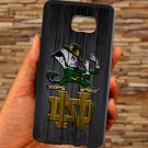 notre dame fighting irish fit for samsung galaxy S6 S 6 S VI edge+ black case cover