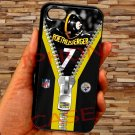"pittsburgh steelers roethlisberger fit for iphone 6 plus 5.5"" black case cover"