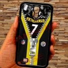 pittsburgh steelers roethlisberger fit for samsung galaxy S4 S 4 S IV black case cover