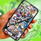 "troy lee design stickerbomb motocross supercross fit for iphone 6 4.7"" black case cover"